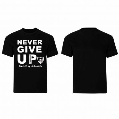 Liverpool & Mo Salah Never Give Up T-Shirt (100% Cotton Sizes S to 4XL)