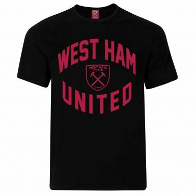 Official West Ham United Crest Leisure T-Shirt (100% Cotton & Sizes S to 2XL)