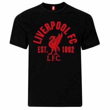 Official Liverpool FC Crest T-Shirt (100% Cotton & Sizes S to 2XL)