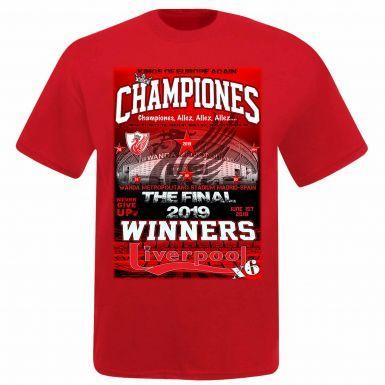 Unisex Liverpool 2019 Champions League Winners T-Shirt