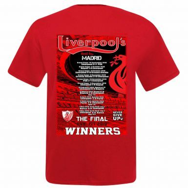 Unisex Liverpool 2019 Champions League Winners T-Shirt