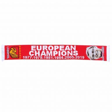 Liverpool Ultimate Fan 2019 (Madrid) Champions League Winners T-Shirt & Scarf Gift Set