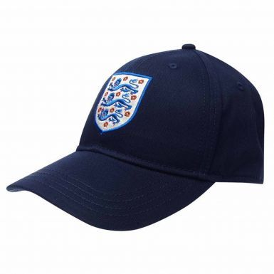 Official England 3 Lions Crest Baseball Cap (100% Cotton & Adjustable)