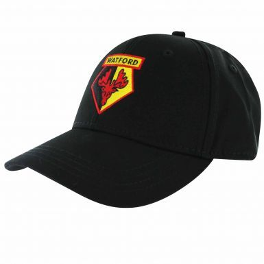 Official Watford FC Football Crest Baseball Cap (100% Cotton & Adjustable)