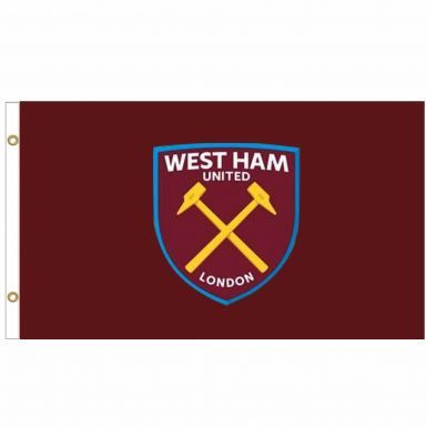 Giant West Ham United (Premier League) Crest Flag (5ft x 3ft)