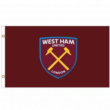 Giant West Ham United (Premier League) Crest Flag (5ft x 3ft)