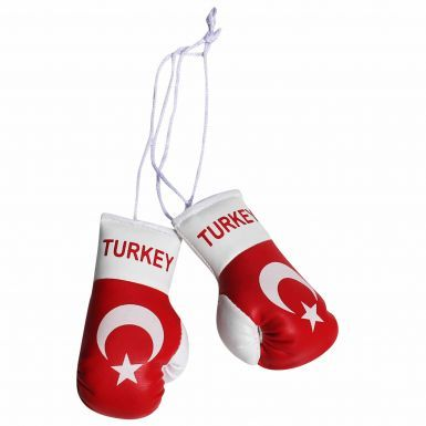 Turkey Flag Mini Boxing Gloves
