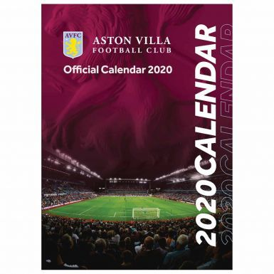 Official Aston Villa 2020 Soccer Calendar (A3 420mm x 297mm)
