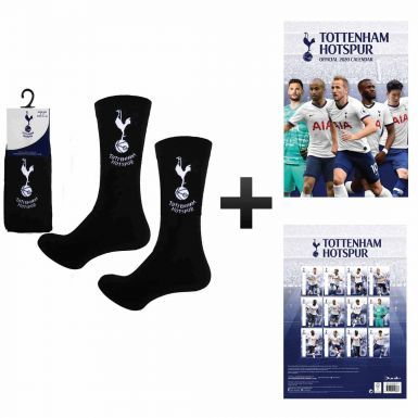 Official Tottenham Hotspur 2020 Calendar & Socks Gift Set