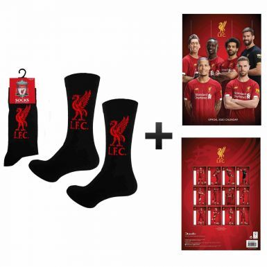 Official Liverpool FC 2020 Calendar & Socks Gift Set