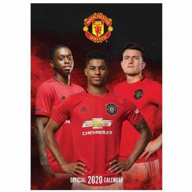Official Manchester United 2020 Football Calendar (A3)