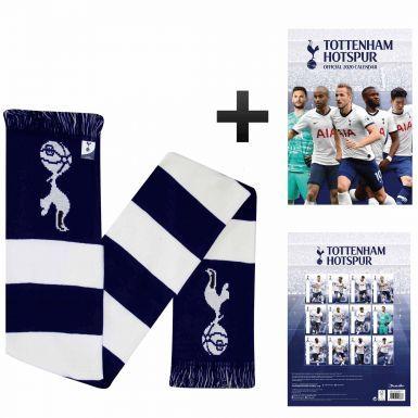 Tottenham Hotspur 2020 Calendar & Bar Scarf Gift Set
