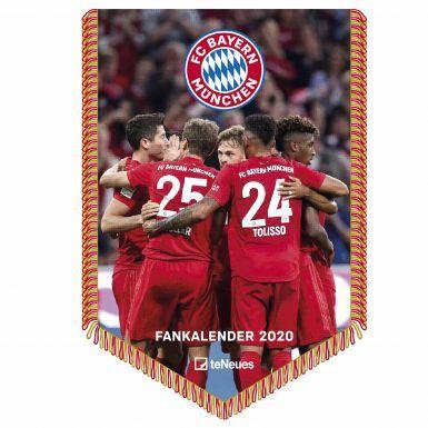 Official Bayern Munich (Bundesliga) 2020 Calender Pennant Shaped