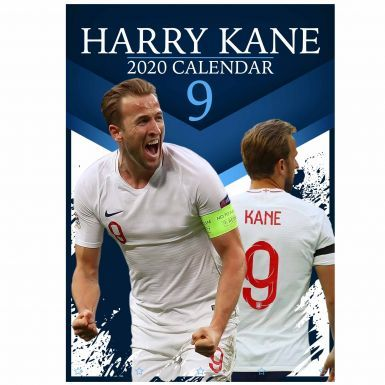 Full Colour Harry Kane England Captain & Goal Machine 2020 Calendar (A3 420mm x 297mm)