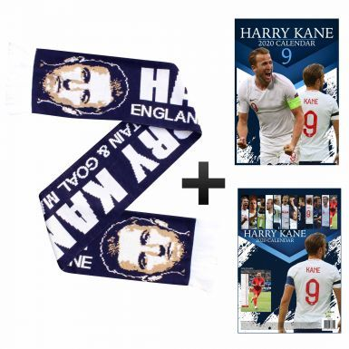 Harry Kane 2020 Calendar (A3) & Scarf Gift Set