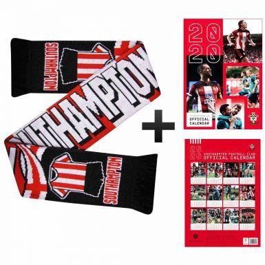 Southampton FC 2020 Calendar & Scarf Gift Set