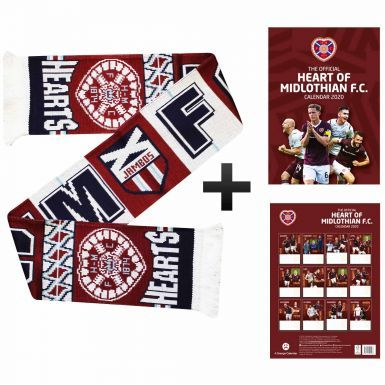 Official Hearts FC 2020 Calendar & Scarf Gift Set