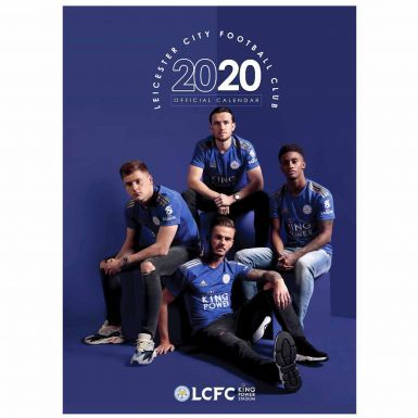 Official Leicester City 2020 Football Calendar & Scarf Gift Set