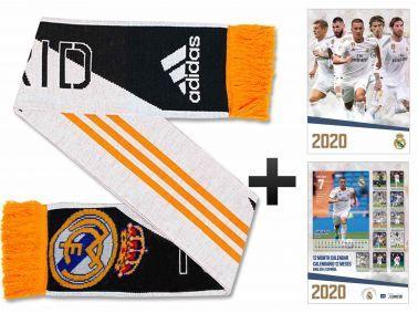 Real Madrid (La Liga) 2020 Soccer Calendar & Scarf Gift Set