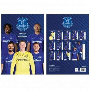 Official Everton FC 2020 Calendar & Fans Scarf Gift Set