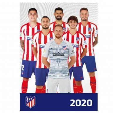 Official Atletico Madrid 2020 Soccer Calendar (A3 420mm x 297mm)