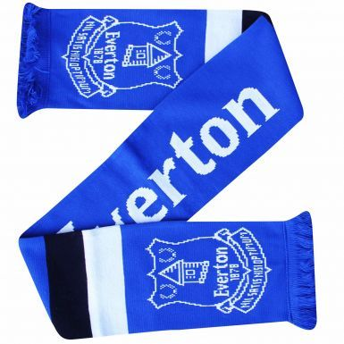 Official Everton FC Crest Scarf (100% Acrylic)