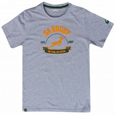 Official South Africa Springboks Adults Rugby T-Shirt (100% Cotton)