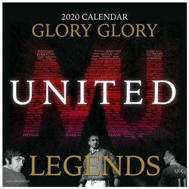 Manchester United Legends 2020 Football Calendar