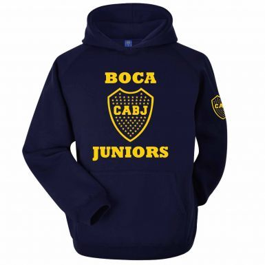 Official Boca Juniors CABJ Crest Fans Hoodie (Adult Sizes S to 3XL)