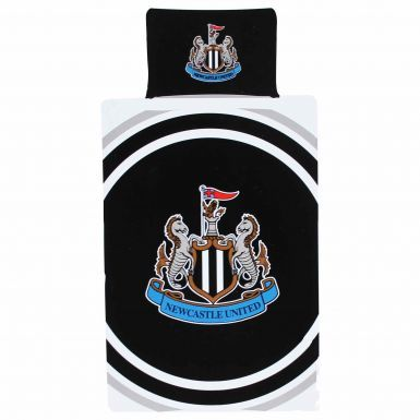 Official Newcastle United Single Duvet Cover & Pillowcase Set