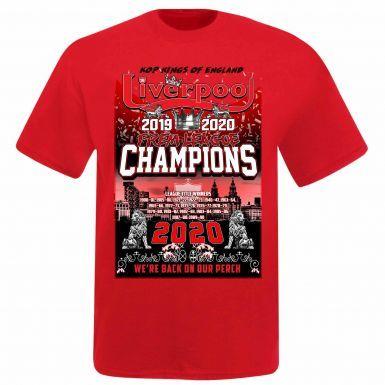 Unisex Liverpool 2020 Premier League Winners T-Shirt