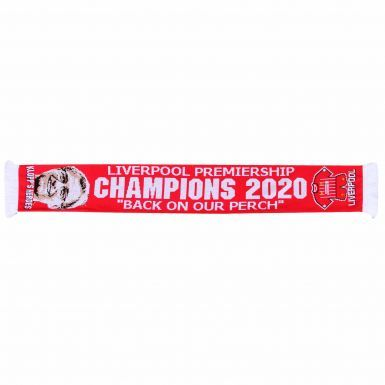 Liverpool 2020 Premier League Champions Scarf (100% Acrylic)