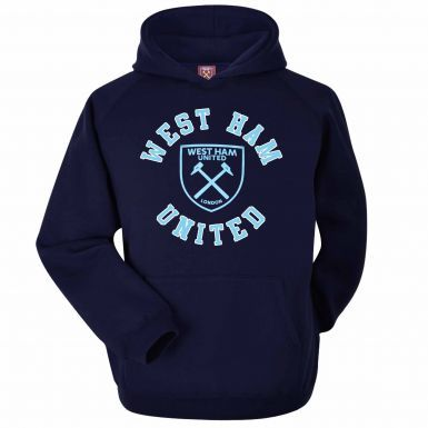 Official West Ham United Crest Hoodie (Adults Sizes S to 2XL)