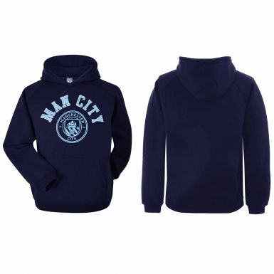 Official Manchester City Crest Hoodie (Adults Sizes S to 2XL)