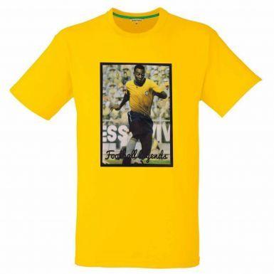 Pele Brazil Captain & Football Legend T-Shirt