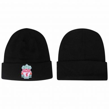 Official Liverpool FC Football Crest Ski Hat (100% Acrylic)