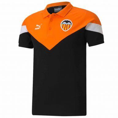 Official Valencia CF (La Liga) Football Polo Shirt (100% Cotton)