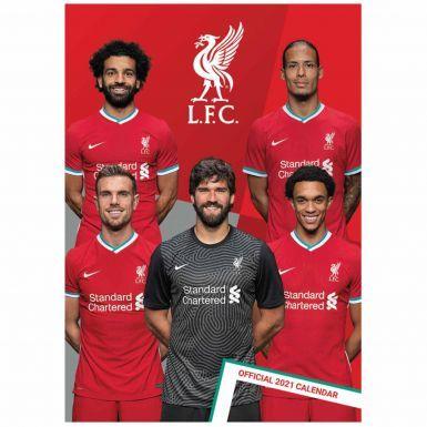 Official Liverpool FC 2021 Football Calendar (A3 420mm x 297mm)