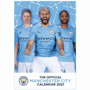 Official Manchester City 2021 Football Wall Calendar (A3)