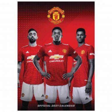 Official Manchester United 2021 Football Calendar (A3)