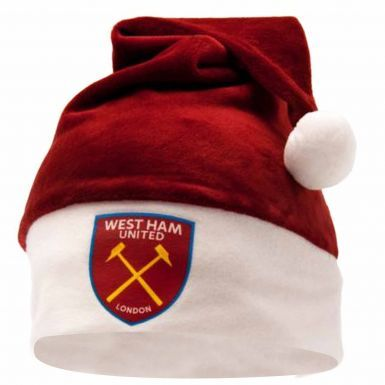 West Ham United Crest Santa Hat