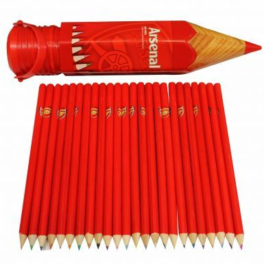 Official Arsenal FC Set of 24 Colouring Pencils for School or College