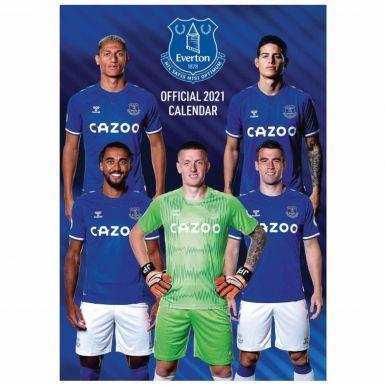 Everton FC (Premier League) 2021 Football Calendar (A3)