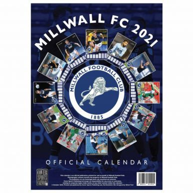 Official Millwall FC 2021 Football Wall Calendar