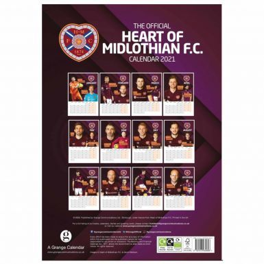 Official Hearts FC 2021 Calendar & Scarf Gift Set