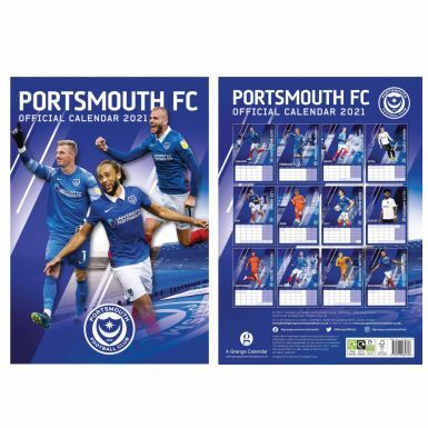 Official Portsmouth FC 2021 Football Calendar & Scarf Gift Set