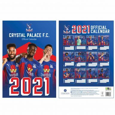 Official Crystal Palace 2021 Calendar & Scarf Gift Set