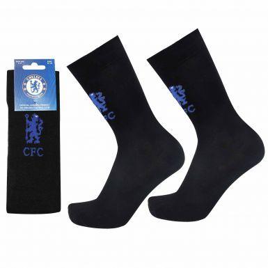 Official Chelsea FC Football Crest Socks (UK Size 8-11)
