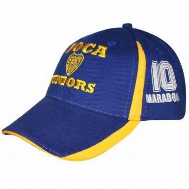 Official Boca Juniors CABJ Crest & Diego Maradona 10 Baseball Cap