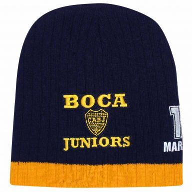 Official Boca Juniors CABJ Crest & Diego Maradona 10 Beanie Hat